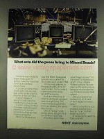 1972 Sony Trinitron Television Ad - Press Bring Miami