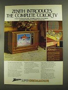 1972 Zenith Spalding Model D4771P Television Ad