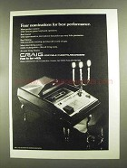 1972 Craig Portable Cassette Recorder Ad - Nominations