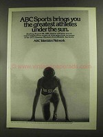 1972 ABC Television Network Ad - Greatest Athletes