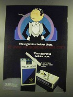 1972 Parliament Cigarettes Ad - The Holder Then