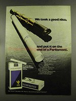 1972 Parliament Cigarettes Ad - We Took a Good Idea