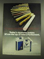 1972 Parliament Cigarettes Ad - It's on the Tip