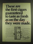 1972 Garcia y Vega Cigars Ad - Taste as Fresh