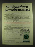 1972 Vantage Cigarettes Ad - Haven't Gotten Message?