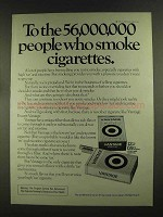 1972 Vantage Cigarettes Ad - 56,000,000 People Smoke