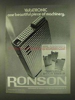 1972 Ronson Varatronic Lighter Ad - Beautiful Piece