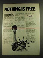 1972 American Trucking Association Ad - Nothing is Free