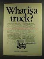 1972 American Trucking Association Ad, What is a Truck?