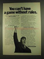 1972 American Trucking Association Ad - Game Rules