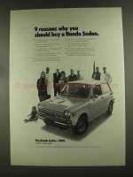 1972 Honda Sedan Ad - 9 Reasons Why You Should Buy