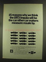 1973 Chevrolet Impala Ad - 15 Reasons Why We Think