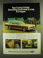 1973 Chevrolet Caprice Estate Wagon Ad - Everything