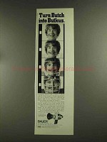 1972 Bauer C Royal Super-8 Movie Camera Ad, Dick Butkus
