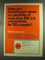 1972 IDS Investors Diversified Services Ad - Part Owner
