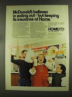 1972 The Home Insurance Ad - McDonald's Believes In