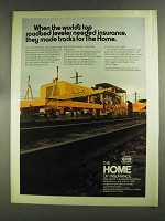 1972 The Home Insurance Ad - Plasser-American