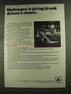 1972 State Farm Insurance Ad - Sheboygan Drunk Drivers