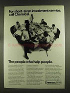 1972 Chemical Bank Ad - Short-Term Investment Service