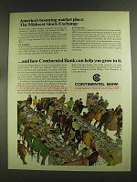 1972 Continental Bank Ad - The Midwest Stock Exchange
