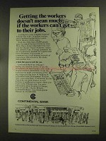 1972 Continental Bank Ad - Getting the Workers