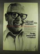 1972 Safeco Insurance Ad - Joe Rizzrdo's Claim