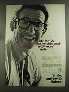 1972 Safeco Insurance Ad - John Duffy's Smile
