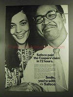 1972 Safeco Insurance Ad - Coopers' Claim
