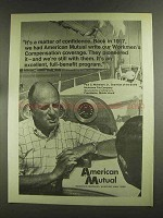 1972 American Mutual Ad - A Matter of Confidence