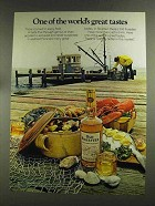 1972 Old Forester Bourbon Advertisement - World's Great Tastes