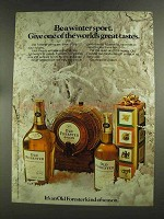 1972 Old Forester Bourbon Ad - Be a Winter Sport