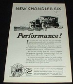 1923 Chandler Six Car Ad, Performance!!