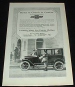 1923 Chevrolet 5 Passenger Sedan Ad, Church!!