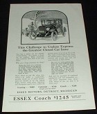 1923 Essex Coach Car Ad, Challenge Expense!!
