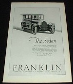 1923 Franklin Sedan Car Ad, NICE!!!!