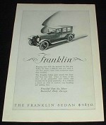 1923 Franklin Sedan Car Ad, NICE!!!
