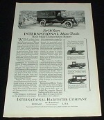 1923 International Harvester Truck Ad, Bread!