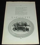 1923 Lafayette Car Ad Tribute to Performance!