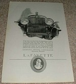 1923 Lafayette Car Ad, Love Fine Things!!