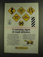 1972 Caterpillar Tractor Co. Ad - Warning Signs