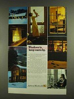 1972 Andersen Windowalls Ad - Keep Warm By