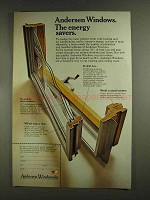 1972 Andersen Windowalls Ad - The Energy Savers