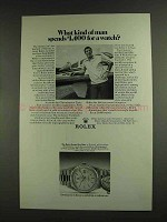 1972 Rolex Oyster Day-Date Watch Ad - Kind of Man