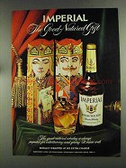 1972 Hiram Walker Imperial Whiskey Advertisement - Royally Wrapped