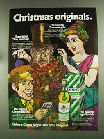 1972 Usher's Green Stripe Scotch Ad - Christmas