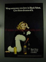 1972 Black Velvet Canadian Whisky Ad - Wrap Someone