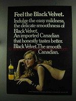 1972 Black Velvet Canadian Whisky Ad - Feel