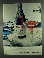 1972 Taylor Cold Duck Ad - Taste the Difference
