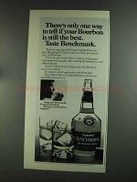 1972 Seagram's Benchmark Bourbon Ad - One Way to Tell