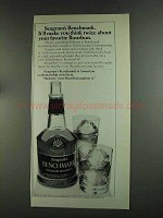 1972 Seagram's Benchmark Bourbon Advertisement - Think Twice
